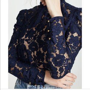 3d9dcdd18c7eaa Wayf Tops | Emma Puff Sleeve Lace Shirt Shopbop | Poshmark